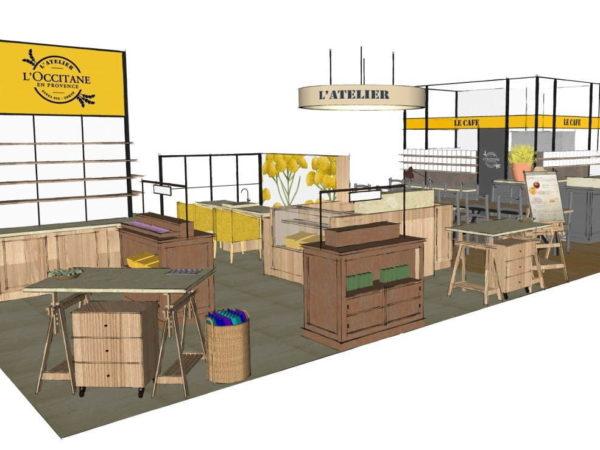 ロクシタンが、銀座にカフェ併設新店舗「アトリエ・ド・プロヴァンス」