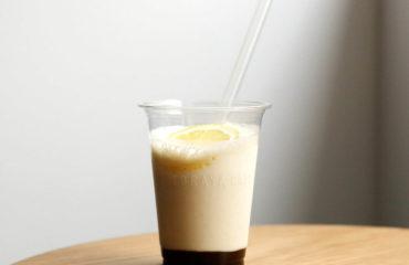 トラヤカフェから、丸ごとバナナにレモンを加えた新作あんスムージー