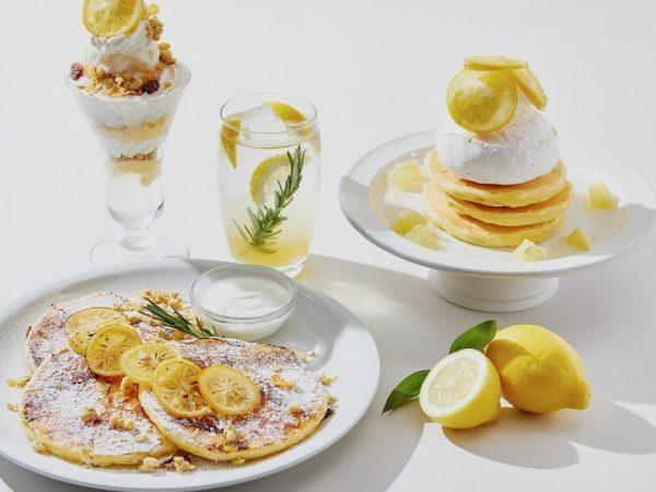 J.S. パンケーキ カフェ、瀬戸内レモンを使用したさっぱりパンケーキ