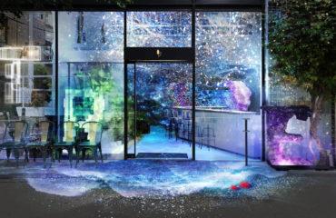"""「ツリーバイネイキッド ヨヨギパーク」で、""""夜の海""""デジタルアート空間で楽しむ夏のディナー"""