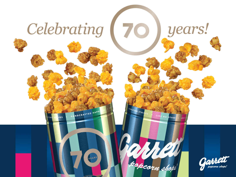 ギャレット ポップコーン ショップス®70 周年記念の『70th Anniversary 缶』