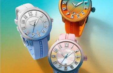スイス時計ブランド「テンデンス」から、グラデーションカラーの新作腕時計「ディカラー ミディアム」
