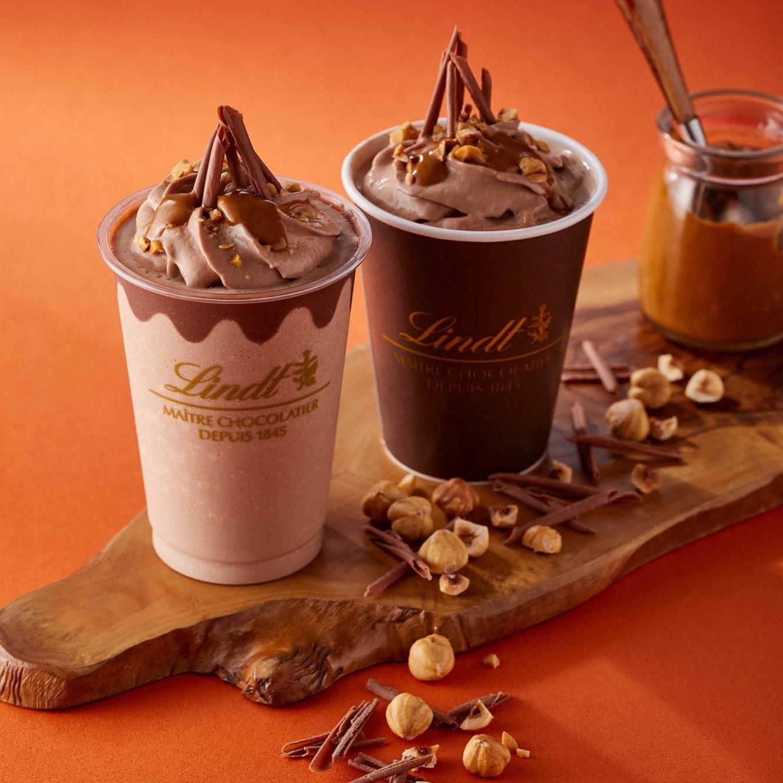 リンツの新チョコレートドリンク「リンツ アイス/ホットチョコレートドリンク ジャンドゥーヤ」