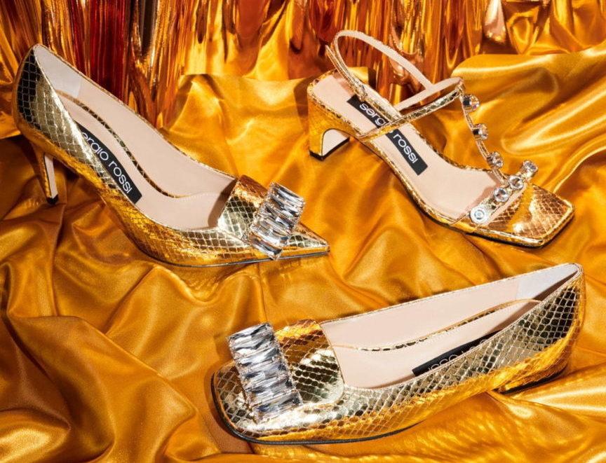 セルジオ ロッシから、ゴールドに彩られた新作シューズ「カプセルコレクション」