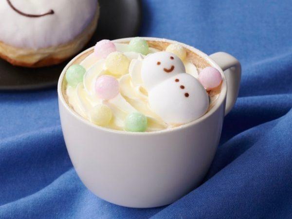 """タリーズコーヒーから、""""雪だるま""""マシュマロを飾った「タリーズスノーマンパレードラテ」"""