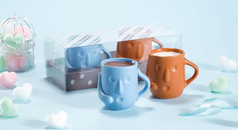 """「はにわぷりん」から、ホワイトデー限定のチョコ×アールグレイ味、ブルー&オレンジの""""はにわ""""カップ"""