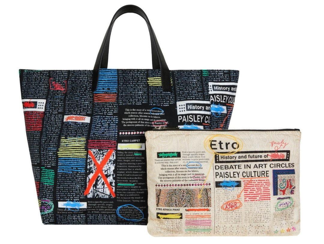 """エトロから、""""タブロイド紙""""着想のバッグやTシャツのカプセルコレクション"""