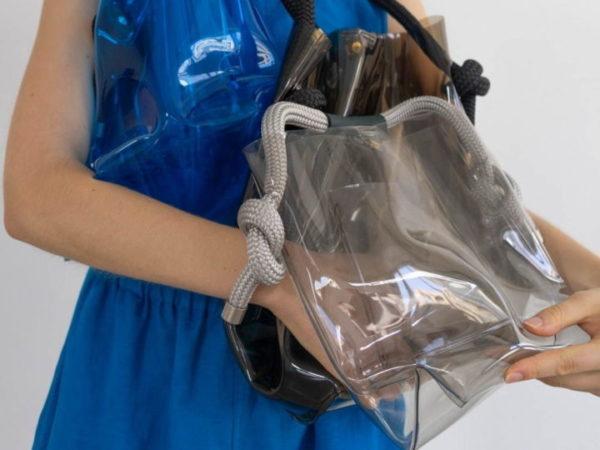 ズッカから、PVC素材のスケルトンバッグ「ヨットロープバッグ・クリスタル」