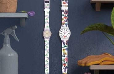 """スウォッチから、""""レトロ&ポップ""""な草花を描いた腕時計「ラブリーガーデン コレクション」"""
