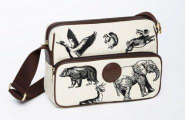"""ハンティング・ワールドから、象やウサギなど""""動物""""刺繍のバッグ"""