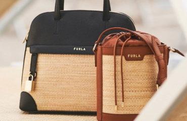 フルラから、「ラフィア」素材×上品レザーの新作バッグ