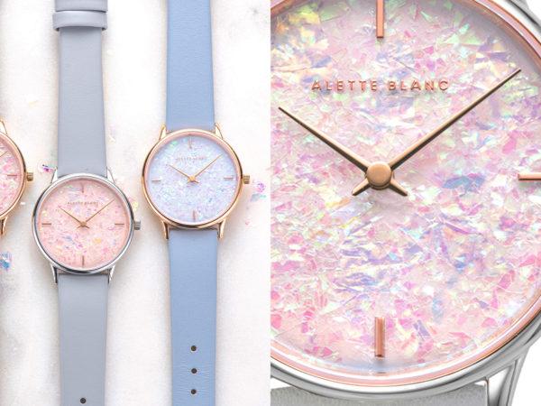 """アレットブランから、オーロラのように輝く文字盤の新作腕時計""""ホロコレクション"""""""