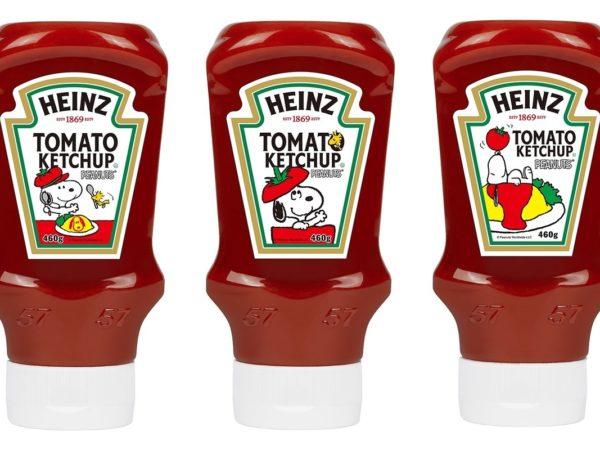 """ハインツから、""""スヌーピー""""限定ラベルのトマトケチャップ"""