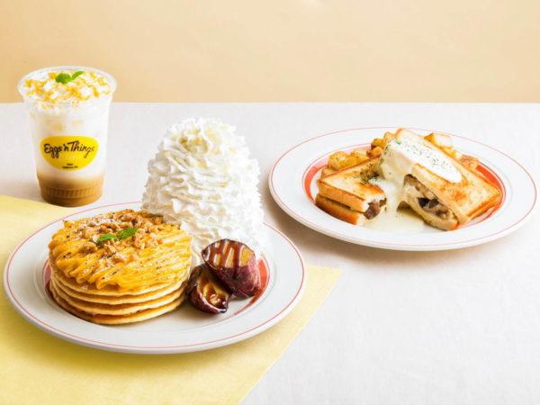 エッグスンシングスから、秋限定のパンケーキ「濃厚スイートポテトパンケーキ」