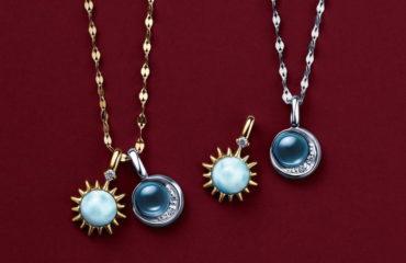 """スタージュエリーから、""""月と太陽""""モチーフのクリスマス限定ネックレス"""