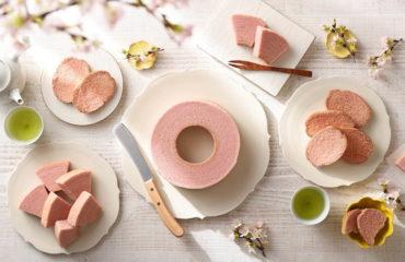 """治一郎から、""""桜餅""""のような味わいの「桜バウムクーヘン」"""