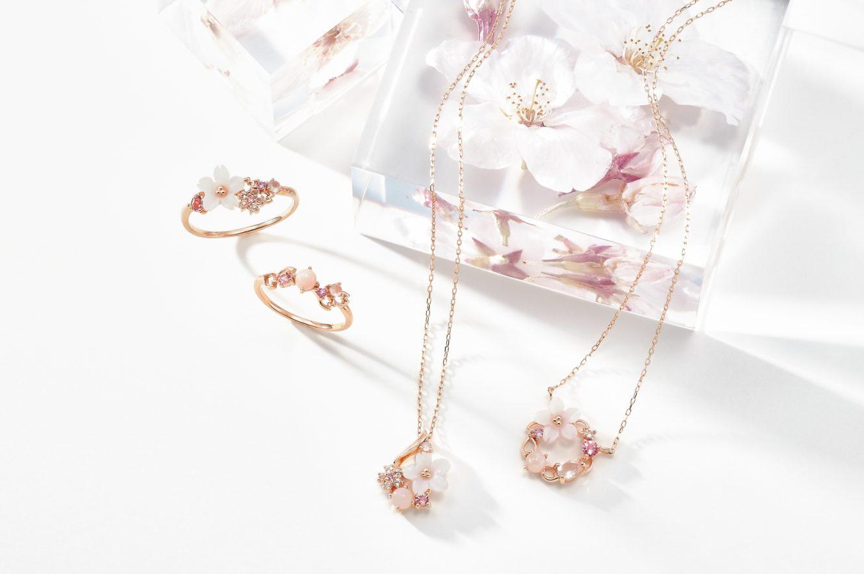 サマンサティアラから、ピンクのストーンが舞う桜ジュエリー