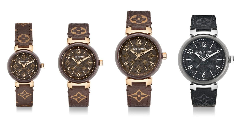 ルイ・ヴィトンから、「タンブール モノグラム」の新作腕時計