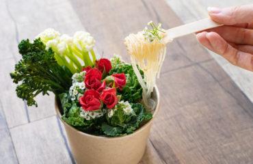 インスタント・グラス ヌードル 「マイラー メン」から、モチモチ食感!食べる花束 ・ ブーケヌードル