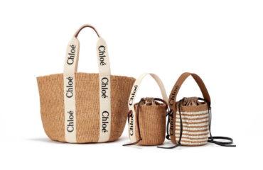 """クロエから、ロゴプリントのリボンがポイント新作バッグ「""""woody""""バスケット」"""
