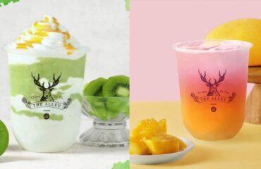 ジアレイから、鮮やかグラデーションの新作ドリンク「愛しのキウイ」と「マンゴー緑茶ルル」