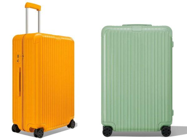 リモワから、ポリカーボネート製スーツケース「エッセンシャル」の新色マンゴー&バンブー