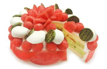 カフェコムサから、シャリシャリ食感の小玉スイカ「ひとりじめ7」のショートケーキ