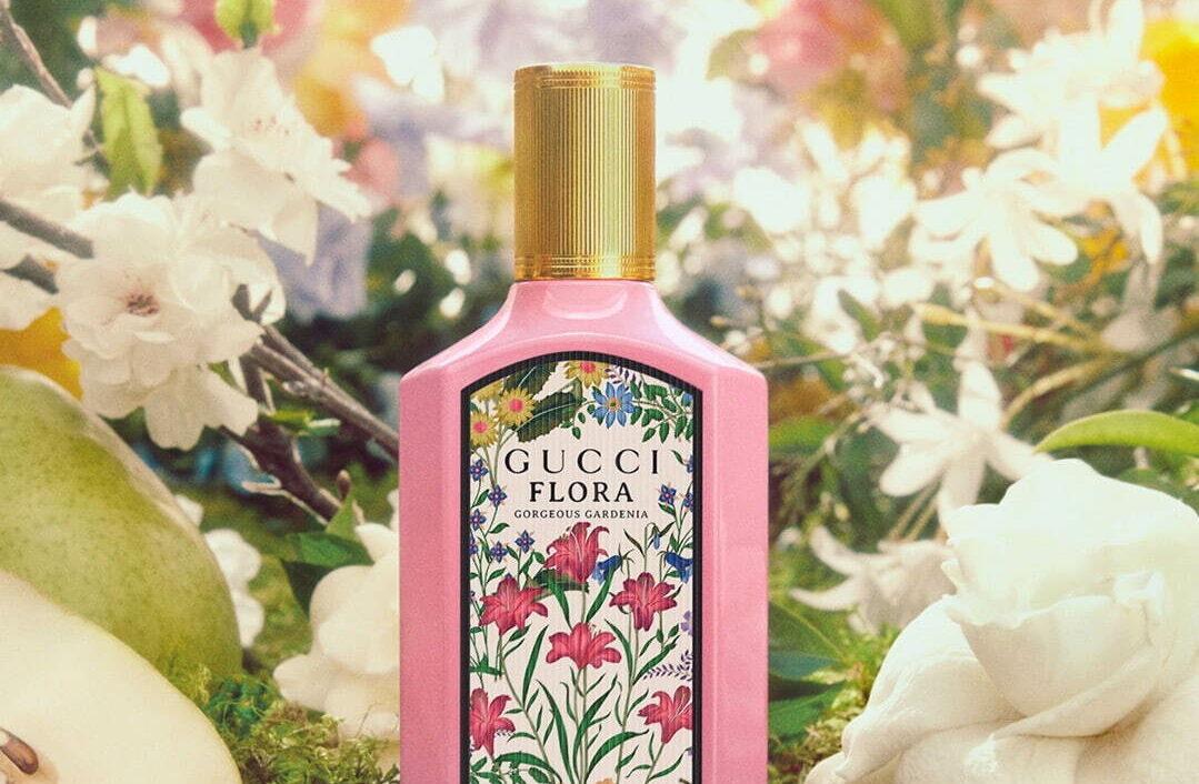 グッチから、ホワイトガーデニアの香りの新作フレグランス「グッチ フローラ ゴージャス ガーデニア オードパルファム」
