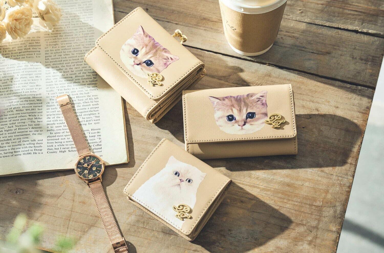 """ポール & ジョーから、ペルシャ猫""""ジプシー""""&ミックス猫""""ヌネット""""モチーフのミニ財布&腕時計"""